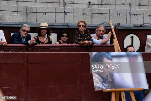 Spanish exbullfighter Jaime Ostos attends a funeral mass for Spanish bullfighter Ivan Fandiño who died after being gored by a bull on last June 17...