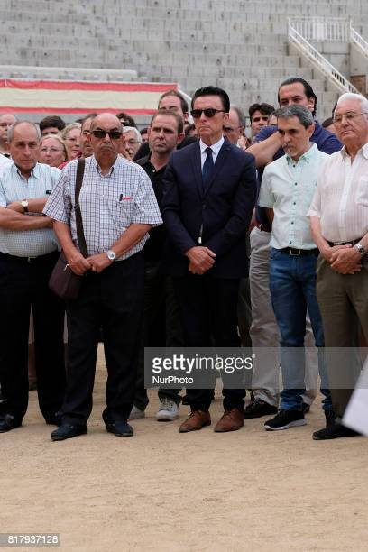 Spanish exbullfighter Jose Ortega Cano attends a funeral mass for Spanish bullfighter Ivan Fandiño who died after being gored by a bull on last June...