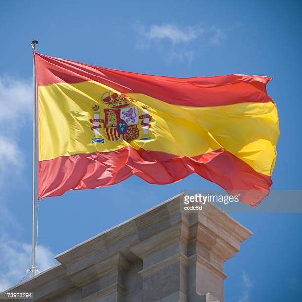 Spanish flag fluttering