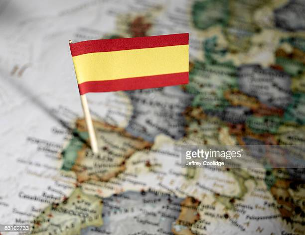 Spanish flag in map