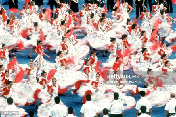 Spanish Flamenco Dancers performing at the Opening Ceremony Parade in Barcelona