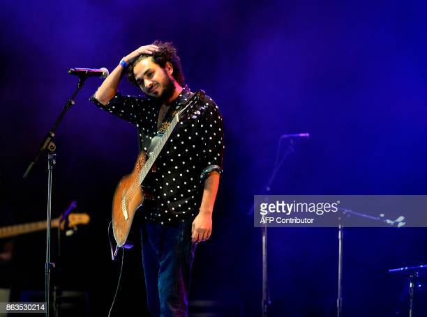 Spanish flamenco guitarist and singer Lin Cortes performs during the 'Breaking the Silence' benefit concert to help flamenco singer Remedios Amaya at...