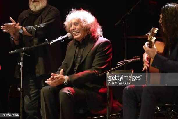 Spanish flamenco guitarist Tomatito performs with Spanish flamenco singer Jose Merce during the 'Breaking the Silence' benefit concert to help...