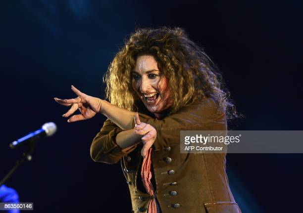 Spanish flamenco singer Estrella Morente performs during the 'Breaking the Silence' benefit concert to help flamenco singer Remedios Amaya at the...