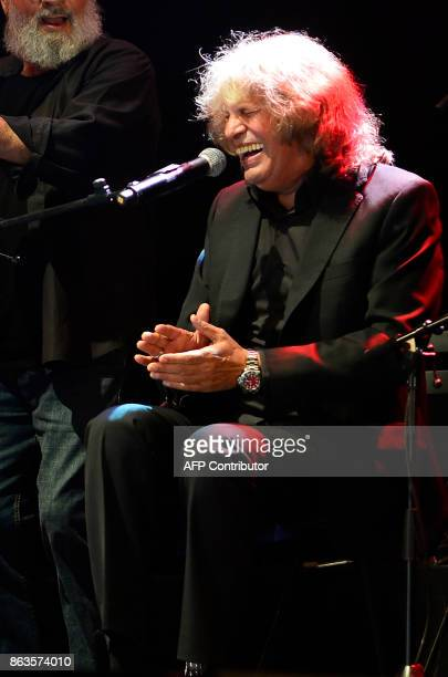 Spanish flamenco singer Jose Merce performs during the 'Breaking the Silence' benefit concert to help flamenco singer Remedios Amaya at the Rocio...