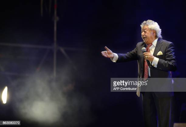 Spanish flamenco singer Pansequito performs during the 'Breaking the Silence' benefit concert to help flamenco singer Remedios Amaya at the Rocio...
