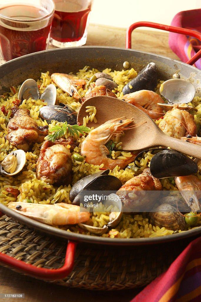 Spanish Food: Paella : Stock Photo