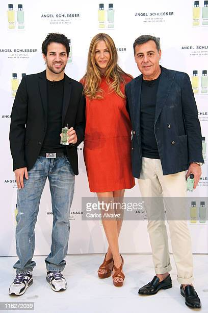Spanish football player Cesc Fabregas model Martina Klein and designer Angel Schlesser present new 'Angel Schlesser' fragance at 'Estudio Milk' on...