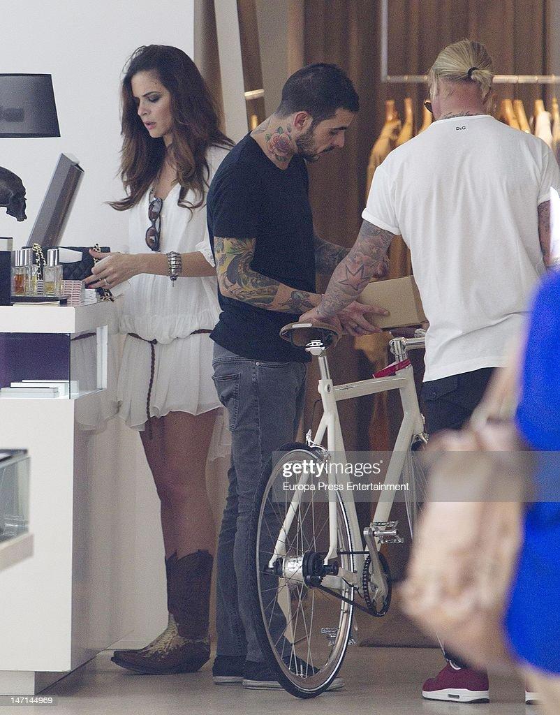 Spanish football player Guti and Romina Belluscio are seen on June 25 2012 in Madrid Spain