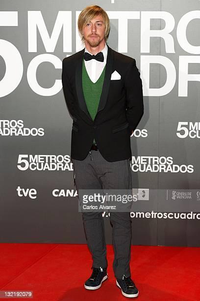 Spanish football player Jose Maria Gutierrez 'Guti' attends 'Cinco Metros Cuadrados' premiere at Callao cinema on November 10 2011 in Madrid Spain