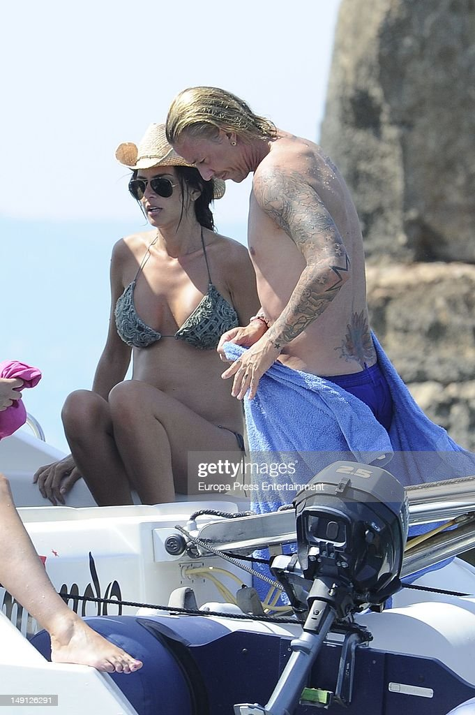 Guti and Romina Belluscio Sighting In Ibiza - July 21, 2012