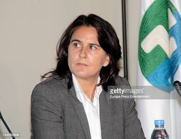 Spanish former tennis player Conchita Martinez presents 'Luces Para Aprender' new project on May 8 2012 in Madrid Spain