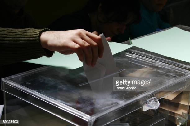 Spanish General Election Republica de Colombia public scholl in Madrid used as polling station during the day of the spanish General Election