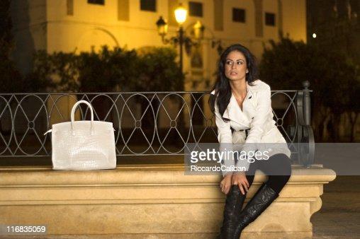 Spanish girl at night