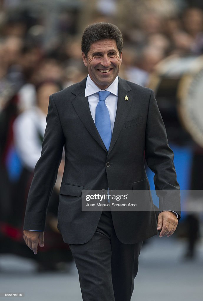 Spanish golfer Jose Maria Olazabal attend the 'Prince of Asturias Awards 2013' ceremony at the Campoamor Theater on October 25, 2013 in Oviedo, Spain.