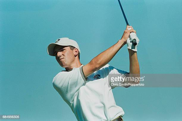 Spanish golfer Sergio Garcia pictured in action for Team Europe during play to lose to Team USA in the 1999 Ryder Cup 145 135 at The Country Club in...