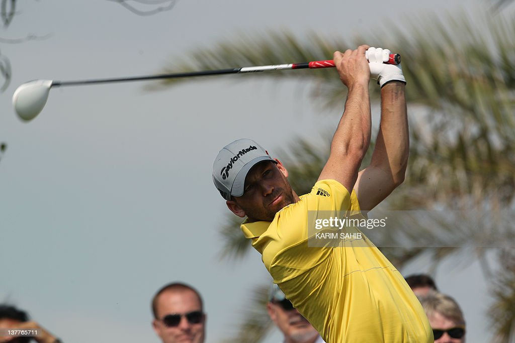 Spanish golfer Sergio Garcia plays a shot during the first round of the Abu Dhabi Golf Championship on January 26, 2012 in the Gulf Emirate. The 2012 golf season kicked into top gear at the 2.7million dollar Abu Dhabi tournament which opens the tour's three-week long Desert Swing also taking place in Doha and Dubai.