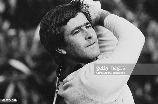 Spanish golfer Seve Ballesteros pictured in action competing to win the 1981 Suntory World Match Play Championship at Wentworth near Virginia Water...
