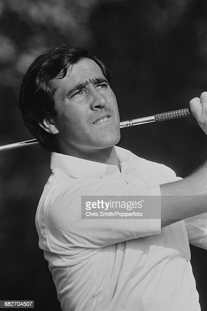 Spanish golfer Seve Ballesteros pictured in action competing to win the 1985 Suntory World Match Play Championship at Wentworth near Virginia Water...