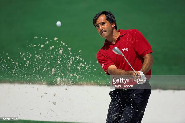 Spanish golfer Severiano Ballesteros at the 2nd hole during the Masters Tournament at Augusta National Golf Club Georgia USA April 1992