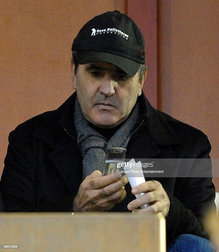 Spanish golfer Severiano Ballesteros attends a football match between Racing de Santander and Tenerife on January 4, 2010 in Santander, Spain.