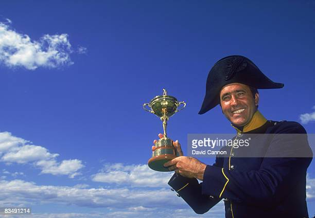 Spanish golfer Severiano Ballesteros in his home town of Pedrena Spain with the Ryder Cup June 1997