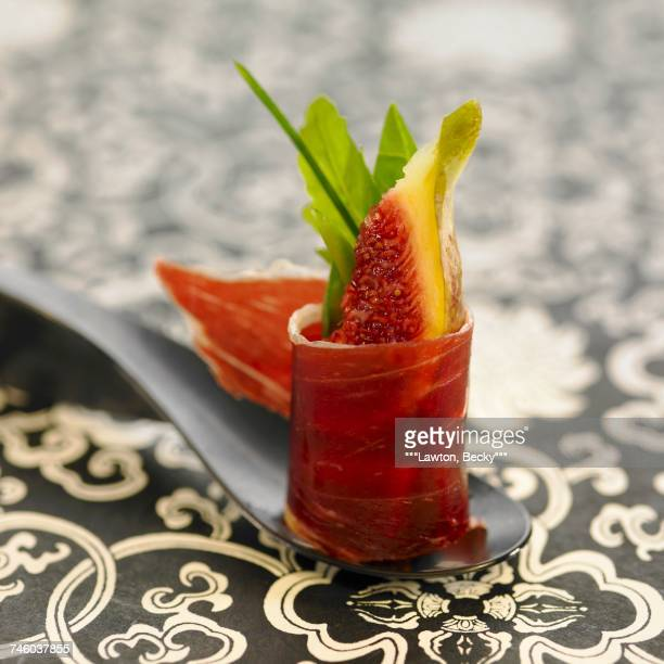 Spanish ham and fig tapas