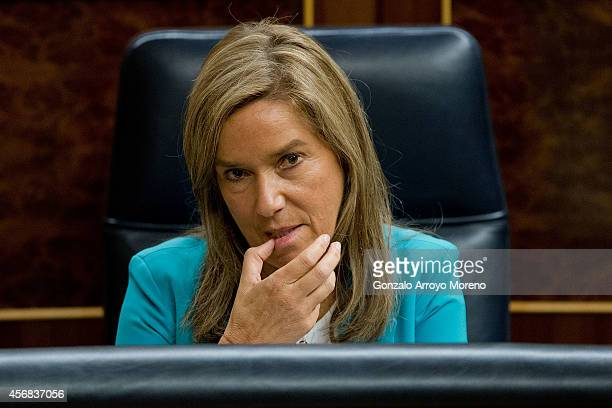 Spanish Health Minister Ana Mato during a plenary session at the Spanish Parliament on October 8 2014 in Madrid Spain Spanish Health Minister Ana...