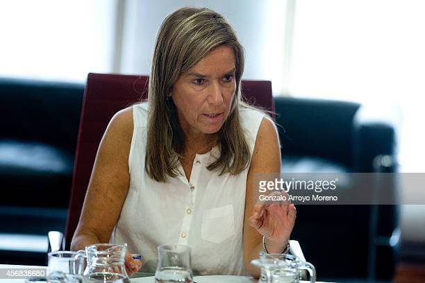 Spanish Health Minister Ana Mato speaks during a meeting of the Ebola Coordination Comission at the Health Ministry headquarters on October 8 2014 in...