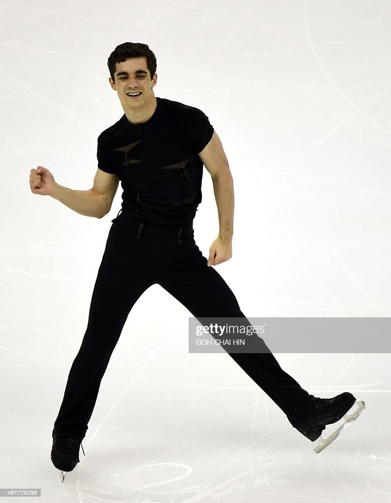 Javier Spain  City new picture : Spanish Javier Fernandez competes on March 27, 2015 during the men's ...