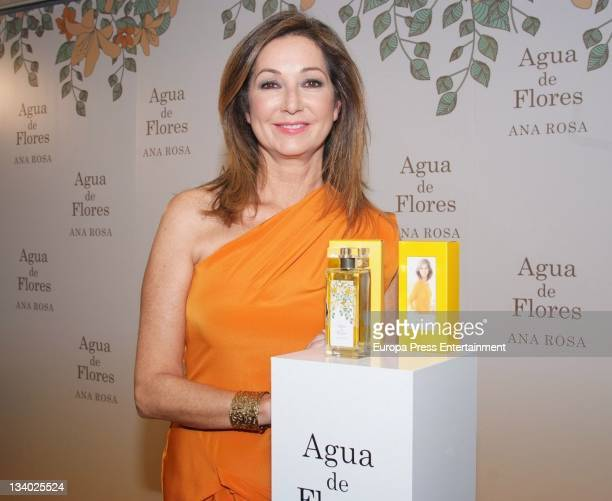 Spanish journalist Ana Rosa Quintana presents charity fragrance 'Agua de Flores' to raise funds for 'La ultima frontera' Foundation at Hotel de las...