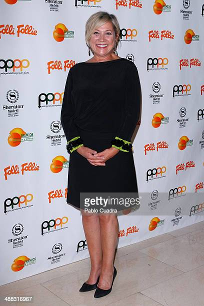 Spanish journalist Ines Ballester attends Folli Follie Excelence Awards 2014 on May 5 2014 in Madrid Spain