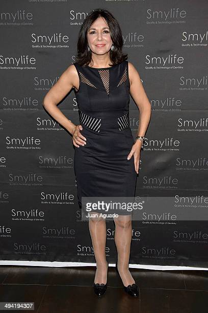 Spanish Journalist Isabel Gemio attends Smylife Event on May 28 2014 in Madrid Spain