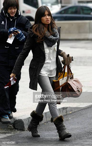 Spanish journalist Sara Carbonero is seen sighting on December 9 2010 in Madrid Spain