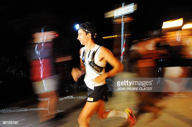 Spanish Kilian Jornet competes in the 7th Edition of the North Face UltraTrail considered as one of the hardest countryside trail races winding up...