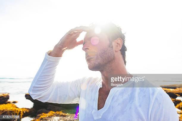 Spanish Man in 30s Beach Lifestyle Bali Indonesia
