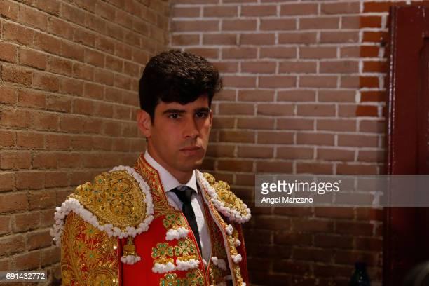 Spanish matador Lopez Simon attends San Isidro bullfight festival at Las Ventas bullring on May 31 2017