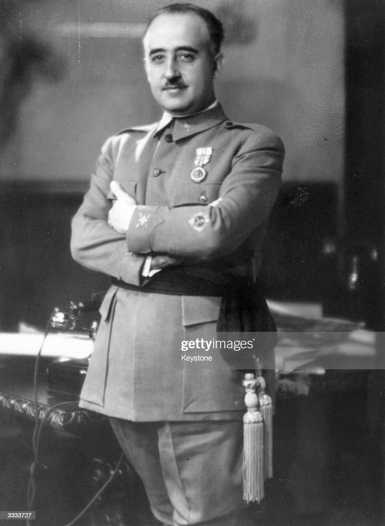 Spanish military dictator General <a gi-track='captionPersonalityLinkClicked' href=/galleries/search?phrase=Francisco+Franco&family=editorial&specificpeople=190209 ng-click='$event.stopPropagation()'>Francisco Franco</a> (1892 - 1975).