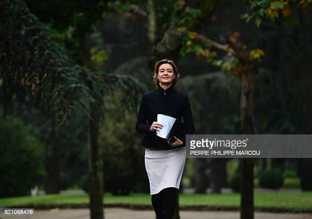 Spanish Minister of Agriculture Fishery Alimentation and Environmental Affairs Isabel Garcia Tejerina arrives to take part to the first Council of...