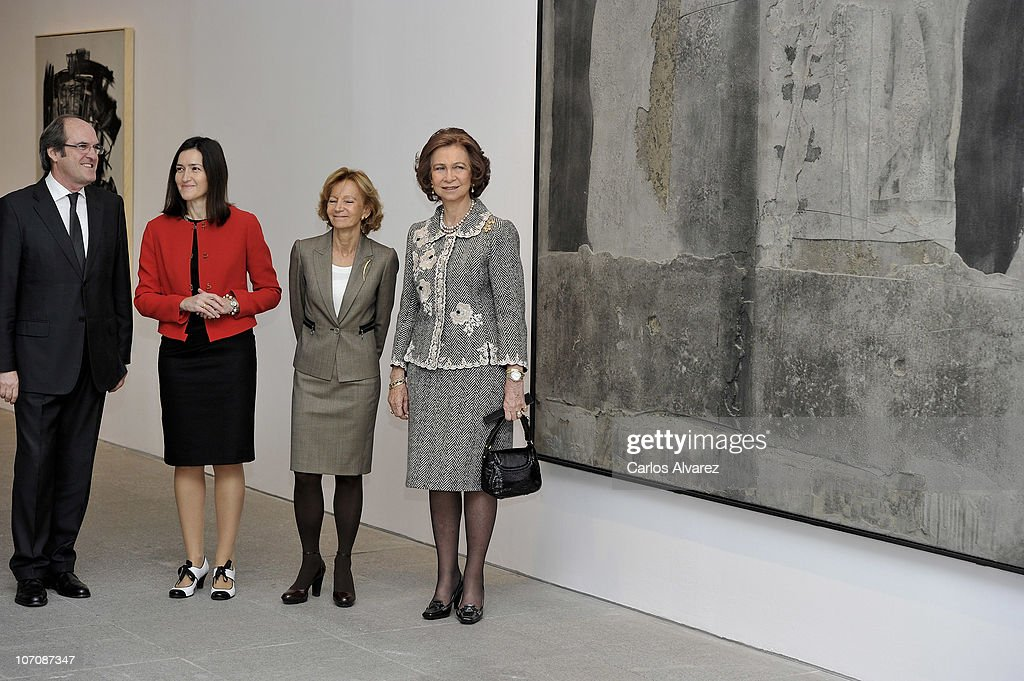 Spanish Minister of Education Angel Gabilondo Minister of Cultura Angeles Gonzalez Sinde Second VicePresident and Finance Minister Elena Salgado and...