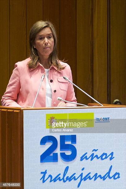 Spanish Minister of Health Social Services and Equality Ana Mato attends the 25th Anniversary Ceremony of the Spanish National Transplant...