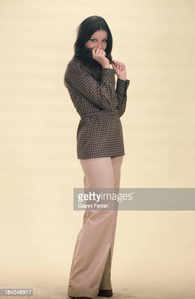 Spanish model and actress Amparo Munoz Miss Spain and Miss Universe 1973 during a photo shoot Madrid Castilla La Mancha Spain