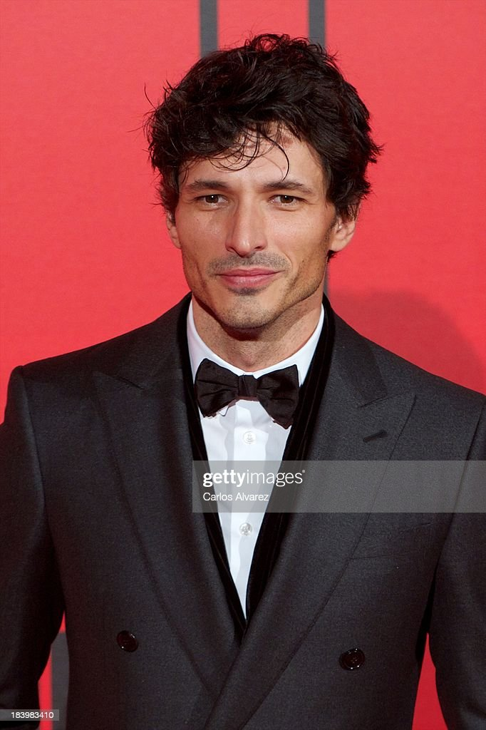 Spanish model <a gi-track='captionPersonalityLinkClicked' href=/galleries/search?phrase=Andres+Velencoso&family=editorial&specificpeople=2089819 ng-click='$event.stopPropagation()'>Andres Velencoso</a> attends the Vanity Fair 5th anniversary paty at the Santa Coloma Palace on October 10, 2013 in Madrid, Spain.