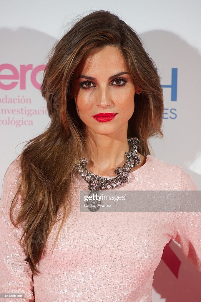 Spanish model Ariadne Artiles attends 'Yo Dona Magazine' pink number hosted by Swarovski at NH Eurobuilding Hotel on October 18, 2012 in Madrid, Spain.