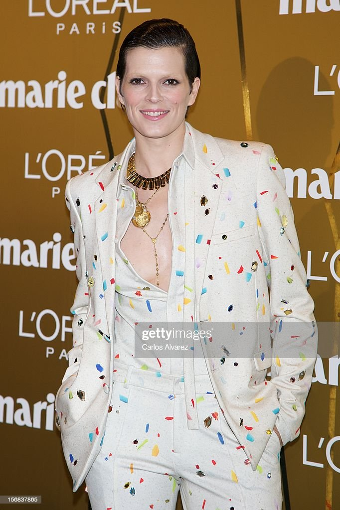 Spanish model Bimba Bose attends Marie Claire Prix de la Moda Awards 2012 at the French Embassy on November 22, 2012 in Madrid, Spain.