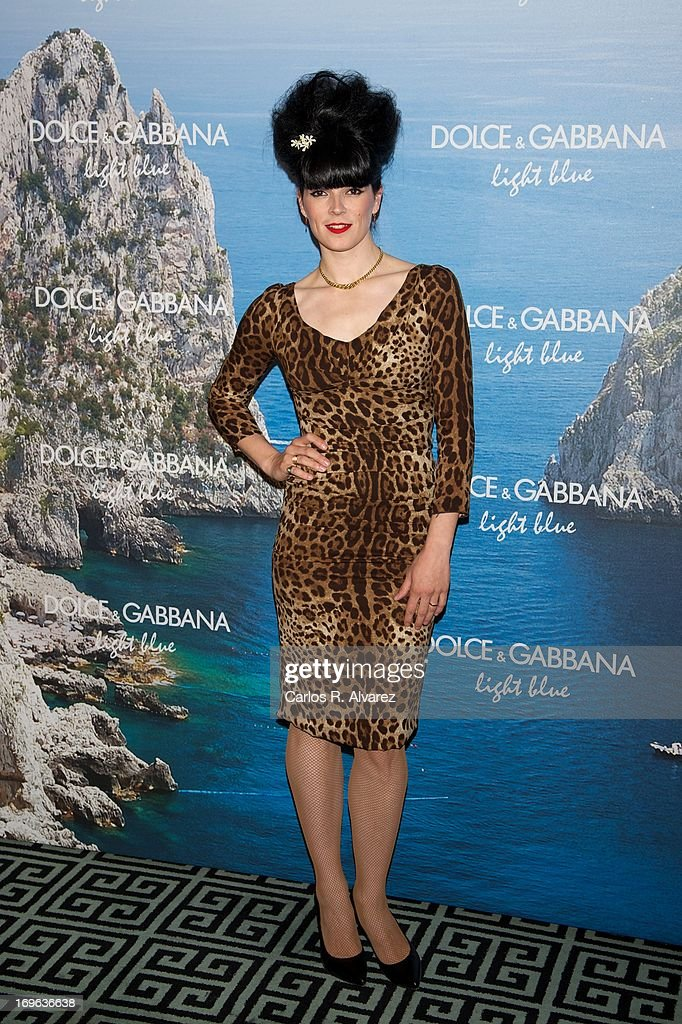 Spanish model Bimba Bose attends Mediterranean Summer Cocktail By Dolce & Gabbana at the Santo Mauro Hotel on May 29, 2013 in Madrid, Spain.