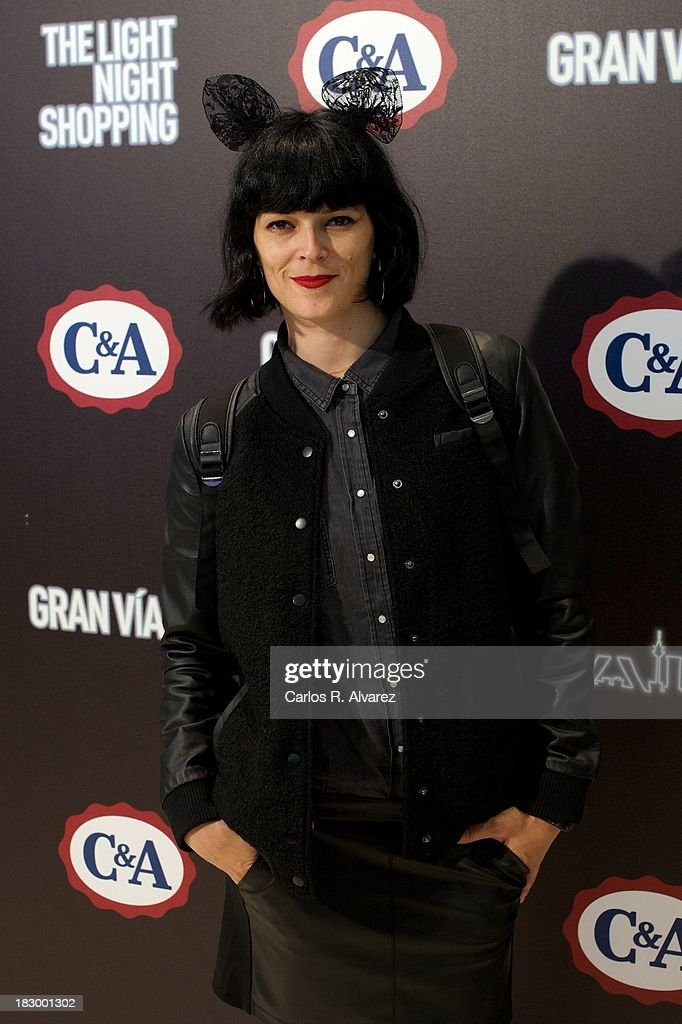 Spanish model <a gi-track='captionPersonalityLinkClicked' href=/galleries/search?phrase=Bimba+Bose&family=editorial&specificpeople=805271 ng-click='$event.stopPropagation()'>Bimba Bose</a> inaugurates the new C&A Shop on October 3, 2013 in Madrid, Spain.