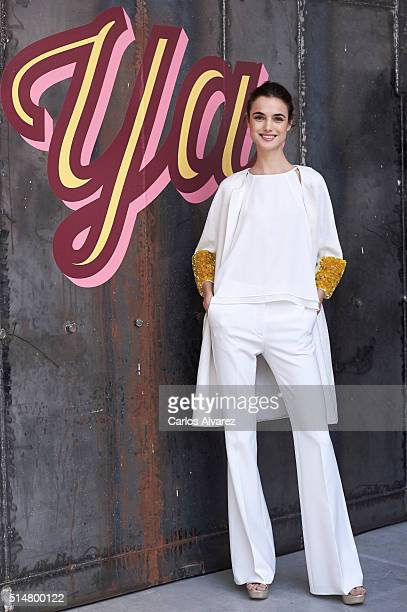 Spanish model Blanca Padilla presents El Corte Ingles Spring Campaign at the Camera Studio on March 11 2016 in Madrid Spain