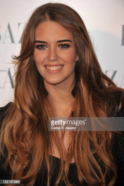 Spanish model Clara Alonso attends Harper's Bazaar presentation party at the Casino de Madrid on February 17 2010 in Madrid Spain