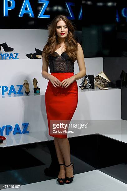 Spanish model Clara Alonso attends the 'Marypaz' Flaship Store opening on March 13 2014 in Madrid Spain